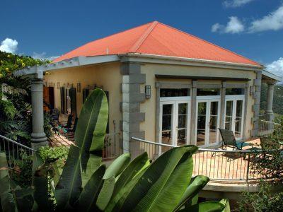 Drake's View Villa St John vacation rental view over Coral Bay