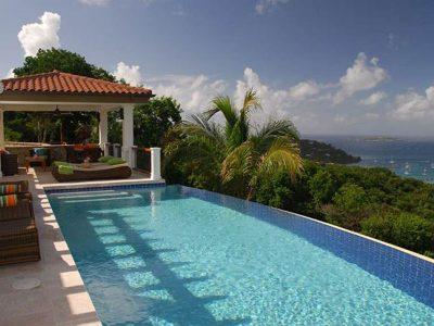 Abrigado Villa, St John USVI pool and view