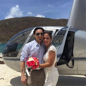 Caribbean Buzz Helicopter wedding