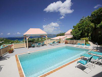 Cruz Views #6 St John villa rental pool view