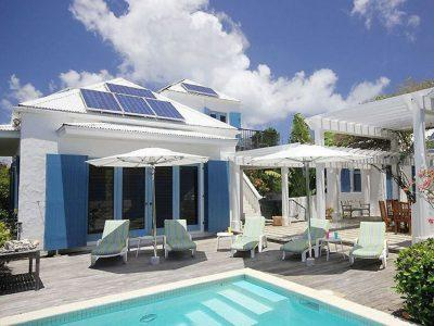 Ilios Villa St John USVI pool deck view