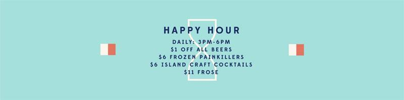 The Longboard Cantina Cruz Bay St John best happy hour