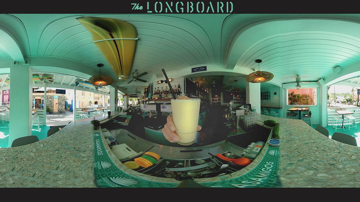 The Longboard bar + restaurant Cruz Bay St John USVI
