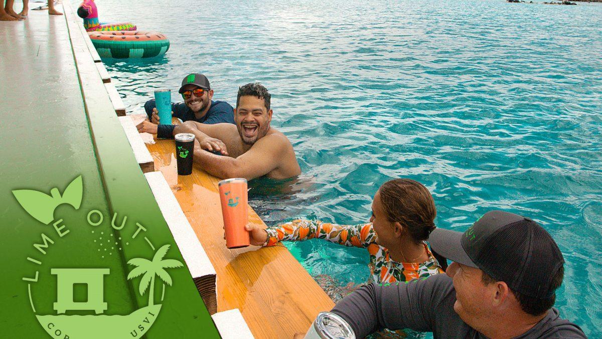 Lime Out VI St John floating bar