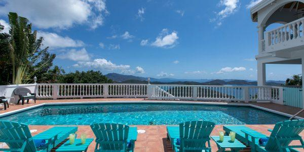 almost heaven villa st john pool view