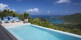 Palm Ridge Villa St John pool view