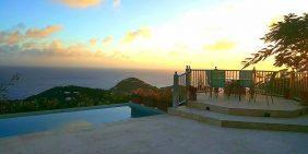 L'Agave Villa, St John sunset view