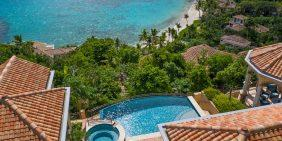 La Vita Villa Peter Bay St John pool and beach view
