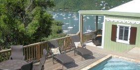 Harbor Lights Cottage, Coral Bay, St John pool and ocean view