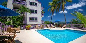 Blue Seas at Lavender Hill, Cruz Bay vacation rental pool view