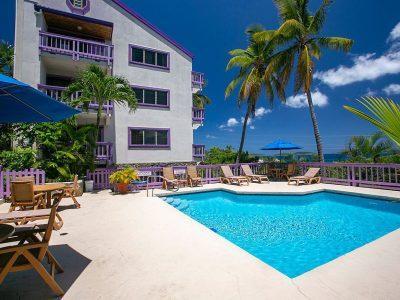 Blue Seas at Lavender Hill, Cruz Bay vacation rental pool view