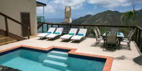 Indigo Breeze Villa, Coral Bay, St John pool view