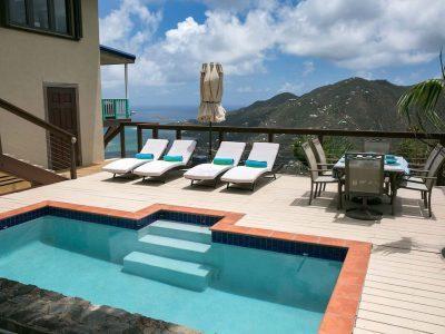 Indigo Breeze Villa, Coral Bay, St John pool view