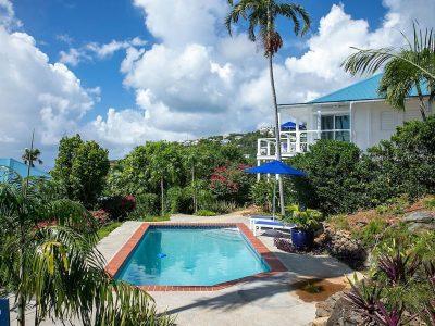 Jasmine Cottage vacation rental St John pool view