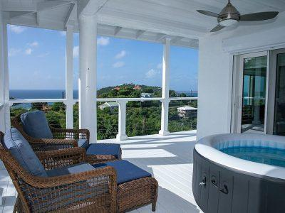 Periwinkle Cottage vacation rental St John deck view
