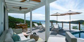 Sundancer Villa St John pool deck ocean view