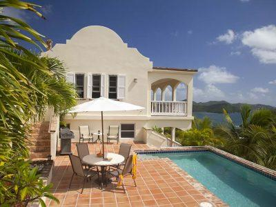 Villa Adeste, Coral Bay, St John USVI pool and National Park view