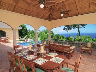 The Peace and Plenty Lanai Overlooks the Caribbean