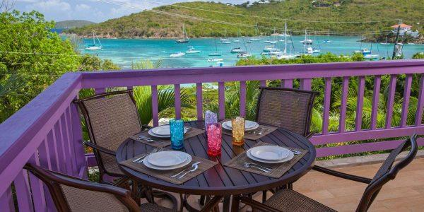 1W Lavender Hill, Cruz Bay, St John patio view