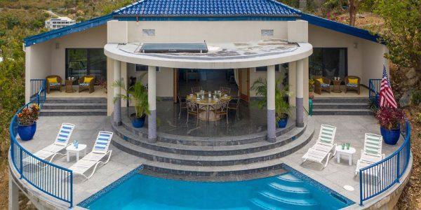Samba Azul Villa, St John pool view