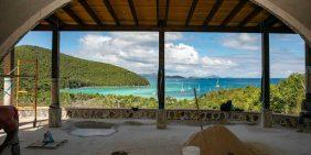 THe Maho Bay House ocean view arch