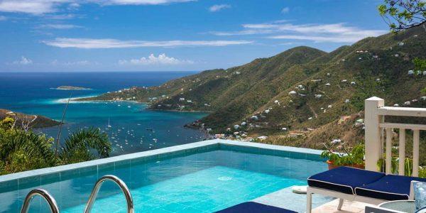 Tropical Manor Villa, St John pool view