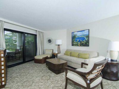 Westin St John 1 bedroom villa living room