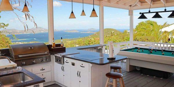Coconuts Villa, St John vacation rental outdoor kitchen view