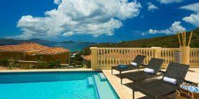 Papayay Villa at The Hills, St John pool view