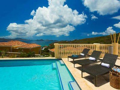 Papayay Villa at The Hills, St John pool view