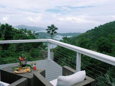 Vela Vista Villa, Coral Bay, St John deck views