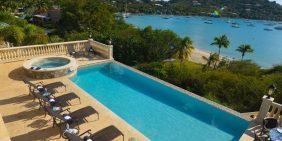 Casa Coram Deo villa St John pool beach view
