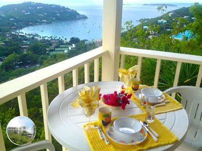 Tropical Orchid Villa breakfast view