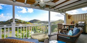 Meritage Cottage, St John porch view
